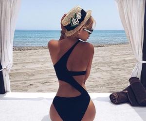 beach, summer, and bikini image