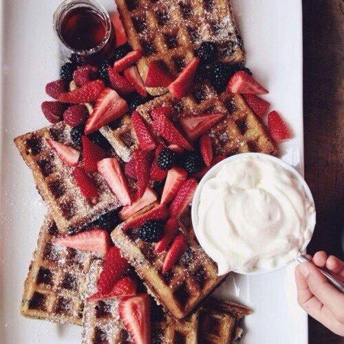 food, tumblr, and wafer image