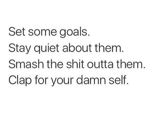 goals, quotes, and quiet image