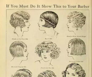 vintage, hair, and hairstyle image