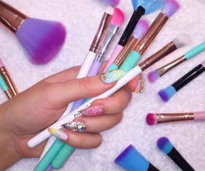 Brushes, makeup, and nails image