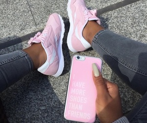 baby pink, sneakers, and phone case image