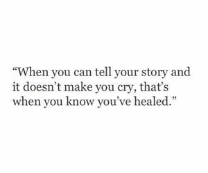 cry, heal, and quote image