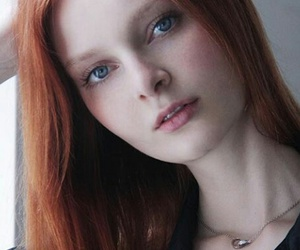 ginger, pale, and girl image