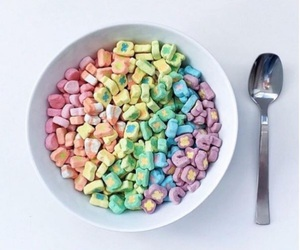 cereal, food, and rainbow image