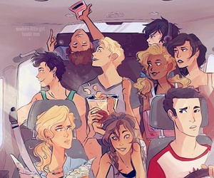 percy jackson, annabeth chase, and nico di angelo image