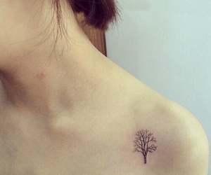 ink, tattoo, and tree image