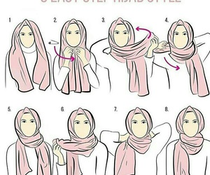 girl, hijab, and muslim image
