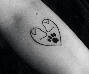 dog, tattoo, and love image