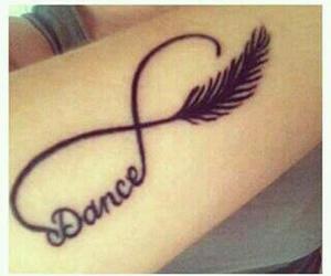 dance, tattoo, and infinity image