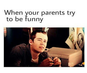 funny, parents, and teen wolf image