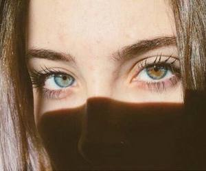 eyes, girl, and blue image