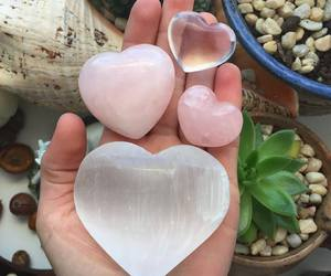 heart, pink, and crystal image