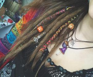 crystals, dreadlocks, and fairy image
