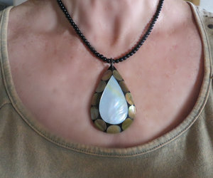 beach, pendant necklace, and mother of pearl image