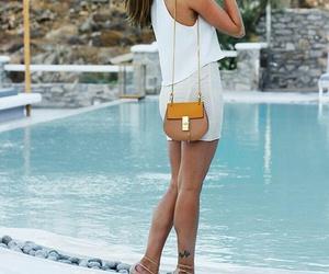 bag, high heels, and on fleek image