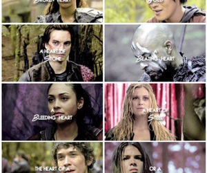 the 100, lexa, and bellamy image