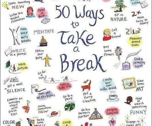 break, relax, and life image