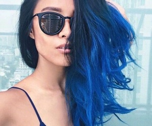 ombre, blue, and blue hair image