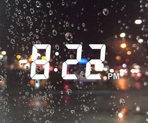 time, snapchat, and rain image
