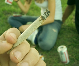 joint, smoking, and weed image