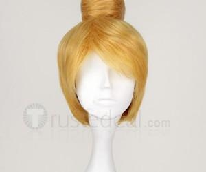 halloween cosplay wig, blonde cosplay wig, and tinkerbell cosplay wig image