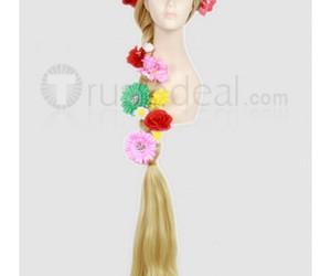 disney cosplay wig, disney princess rapunzel, and tangled rapunzel wig image