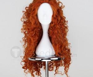 merida orange wig, disney cosplay wigs, and halloween cosplay wigs image