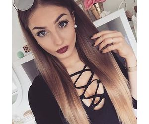 girl, fashion, and hairstyle image