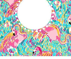 colorful, binder cover, and flamingo image
