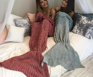 mermaid, friends, and best friends image