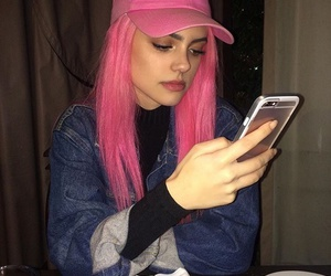 hair, iphone, and pink hair image