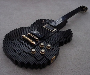 guitar, lego, and black image