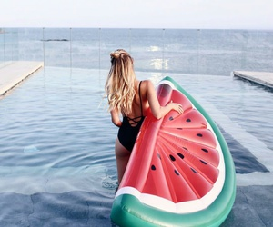 adventure, pool, and water melon image