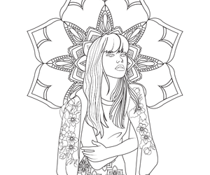 women, coloring pages, and adult coloring image
