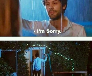 funny, sorry, and rain image
