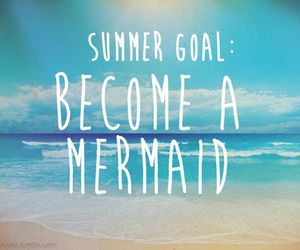 mermaid, summer, and beach image