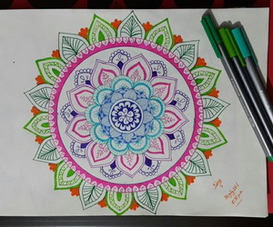 art, colors, and drawing image