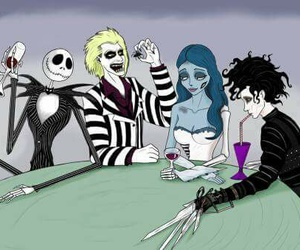 tim burton, beetlejuice, and corpse bride image