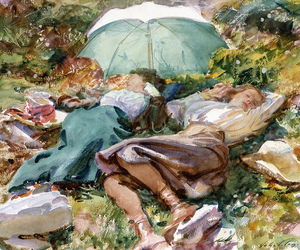 John Singer Sargent, painting, and watercolour image