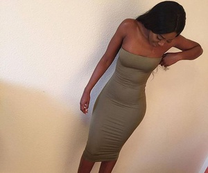 clothing, bodycon, and dress image