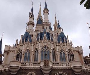 beige, disney castle, and disneyland image