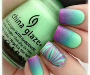 nails, green, and purple image