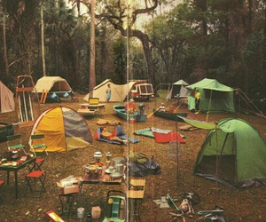 camp, camping, and tent image