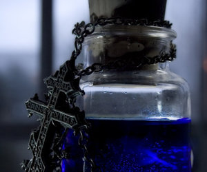 blue, cross, and poison image