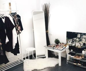interior, clothes, and room image