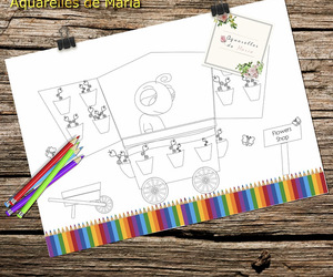 coloring pages, printable coloring pages, and print and color image