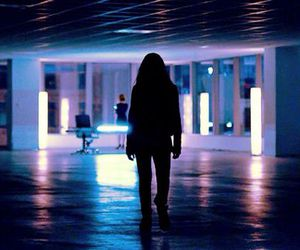 future, girl, and lights image