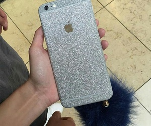iphone, apple, and glitter image