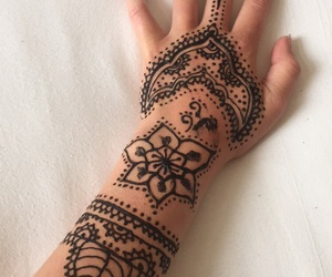black, henna, and modern image